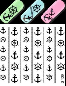 Tatuaje unghii cu transfer la apa - black - S136