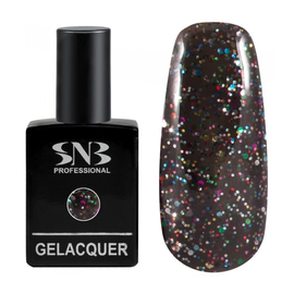SNB Lac semi-permanent 057 Negru cu Sclipici Colorat