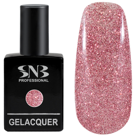 SNB Lac semipermanent 04 Glitter Roz Ash Of Roses