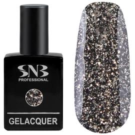 SNB Gelacquer Lac semi-permanent GLI21 Negru cu Sclipici