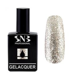 SNB Gelacquer Lac semipermanent 210- Glitter Auriu/Argintiu