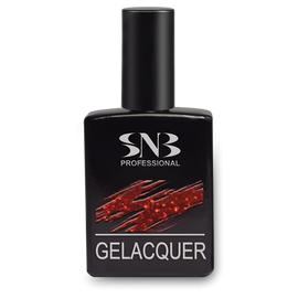 SNB Lac semipermanent GLD001- Rosu cu Sclipici